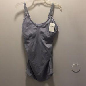 Maternity Nursing Camisole size XL grey NWT